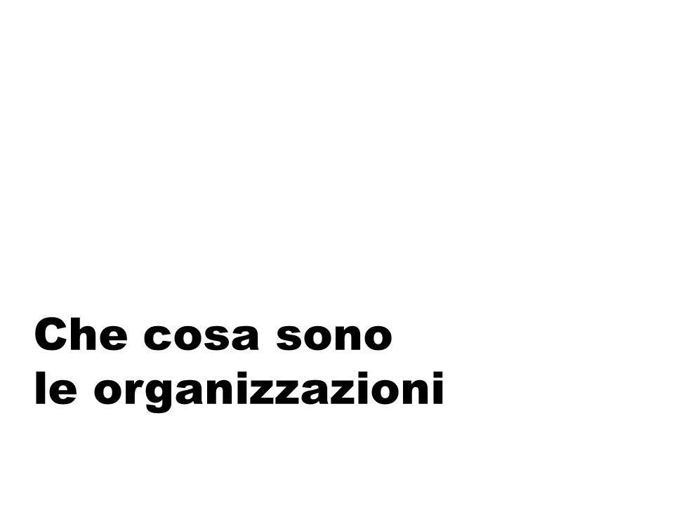Tanti termini ma… Burocrazia Organizzazione formale Azienda Istituzione Organizzazione è neutro, si riferisce a un ampio spettro di contesti, di entità