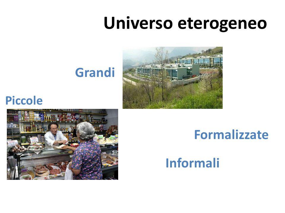 Universo eterogeneo Grandi Piccole Formalizzate Informali