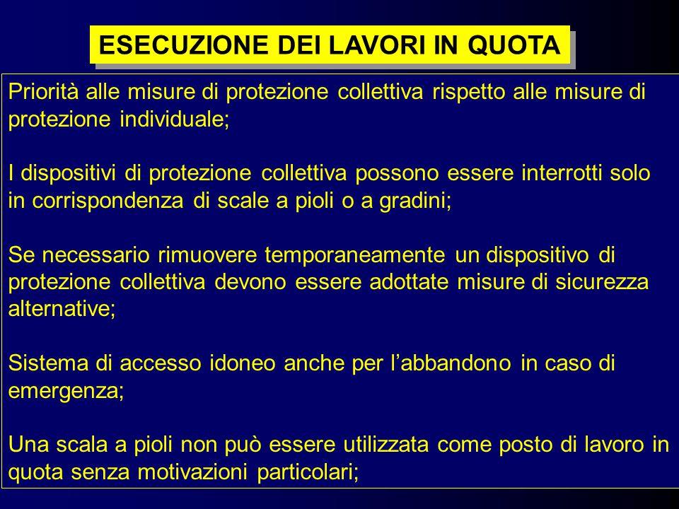 7 Priorità alle misure di protezione collettiva rispetto alle misure di protezione individuale; I dispositivi di protezione collettiva possono essere