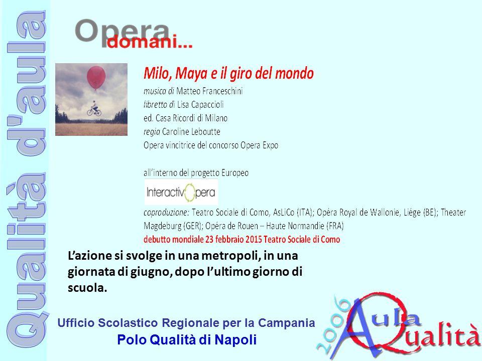 Ufficio Scolastico Regionale per la Campania Polo Qualità di Napoli L'azione si svolge in una metropoli, in una giornata di giugno, dopo l'ultimo giorno di scuola.