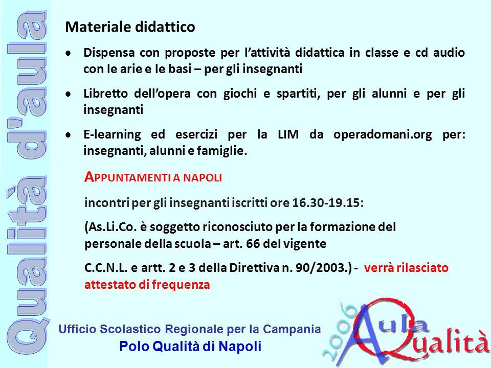 Ufficio Scolastico Regionale per la Campania Polo Qualità di Napoli Materiale didattico  Dispensa con proposte per l'attività didattica in classe e c