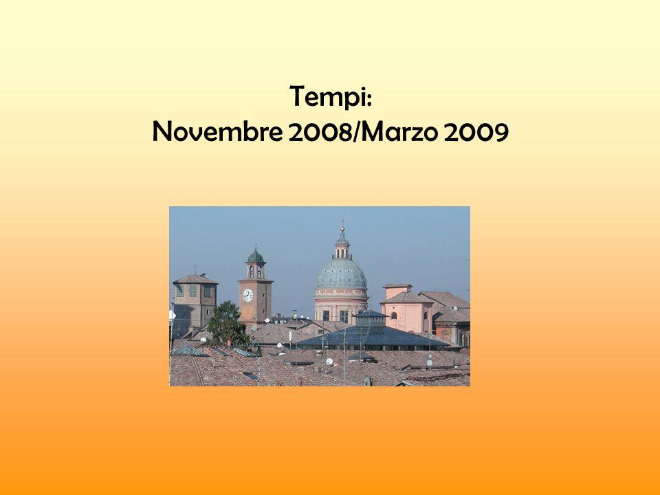 Tempi: Novembre 2008/Marzo 2009