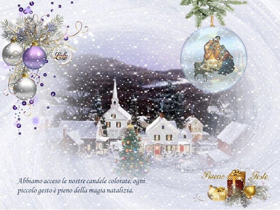 Nelle nostre case ci sono alberi natalizi decorati con mille luci che brillano come le stelle in cielo.