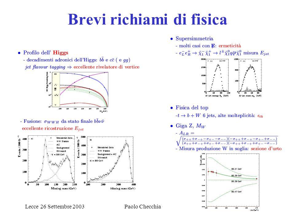 Lecce 26 Settembre 20033 Condizioni dalla macchina TESLA DAQ differenza fondamentale per il rivelatore con emitt., fun.