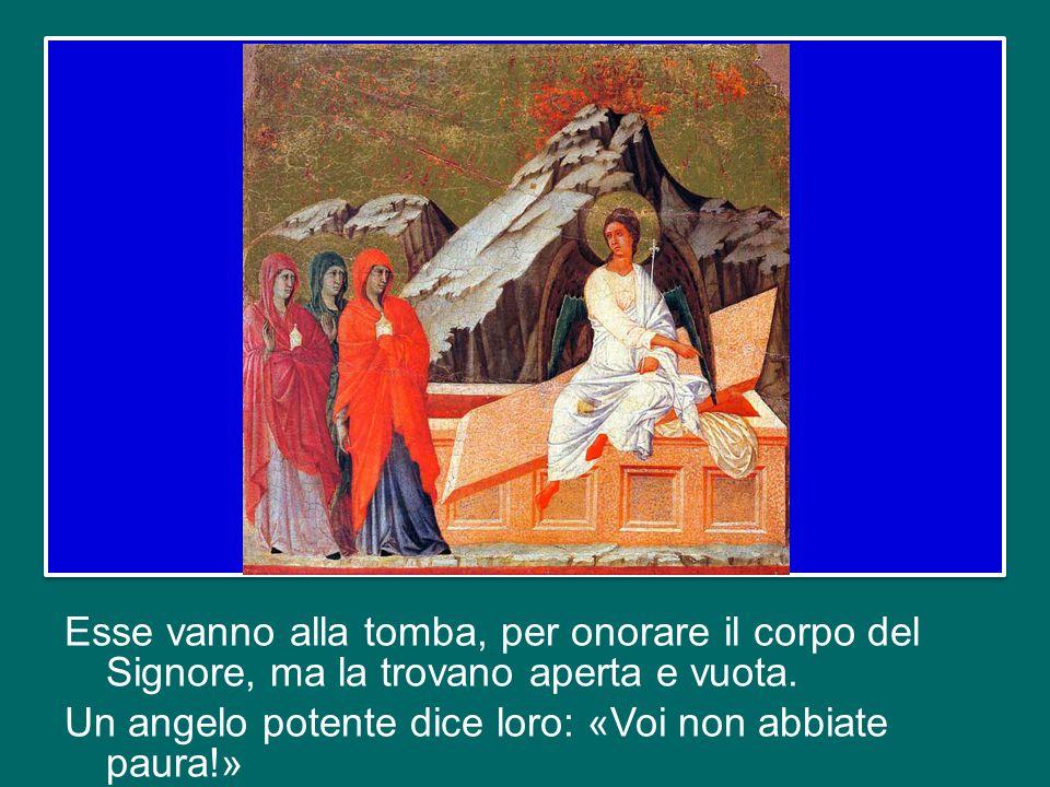 Il Vangelo della risurrezione di Gesù Cristo incomincia con il cammino delle donne verso il sepolcro, all'alba del giorno dopo il sabato.