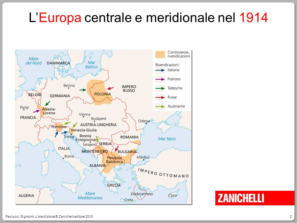 3Paolucci, Signorini, L'ora di storia © Zanichelli editore 2010 La guerra durerà quattro anni, dal 1914 al 1918