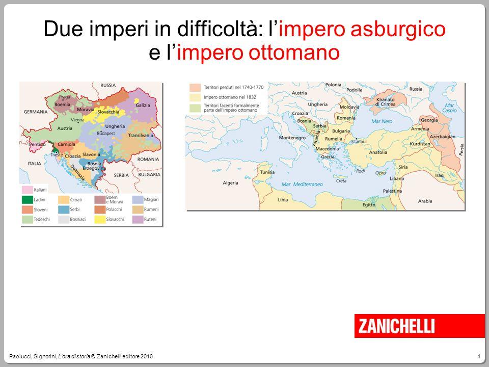 4Paolucci, Signorini, L'ora di storia © Zanichelli editore 2010 Due imperi in difficoltà: l'impero asburgico e l'impero ottomano