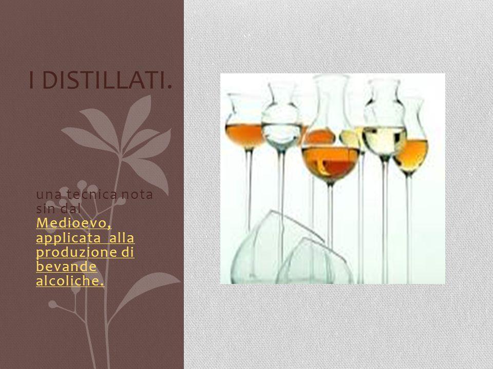 una tecnica nota sin dal Medioevo, applicata alla produzione di bevande alcoliche. Medioevo, applicata alla produzione di bevande alcoliche. I DISTILL