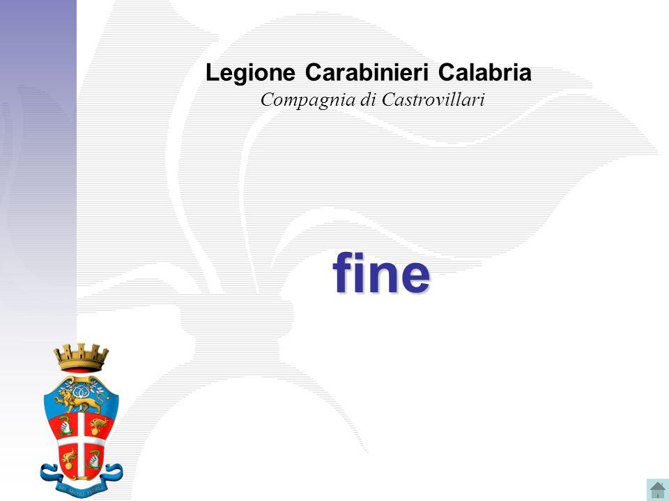 Legione Carabinieri Calabria Compagnia di Castrovillari fine