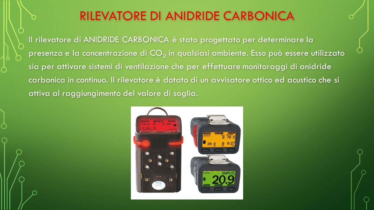 RILEVATORE DI ANIDRIDE CARBONICA Il rilevatore di ANIDRIDE CARBONICA è stato progettato per determinare la presenza e la concentrazione di CO 2 in qualsiasi ambiente.