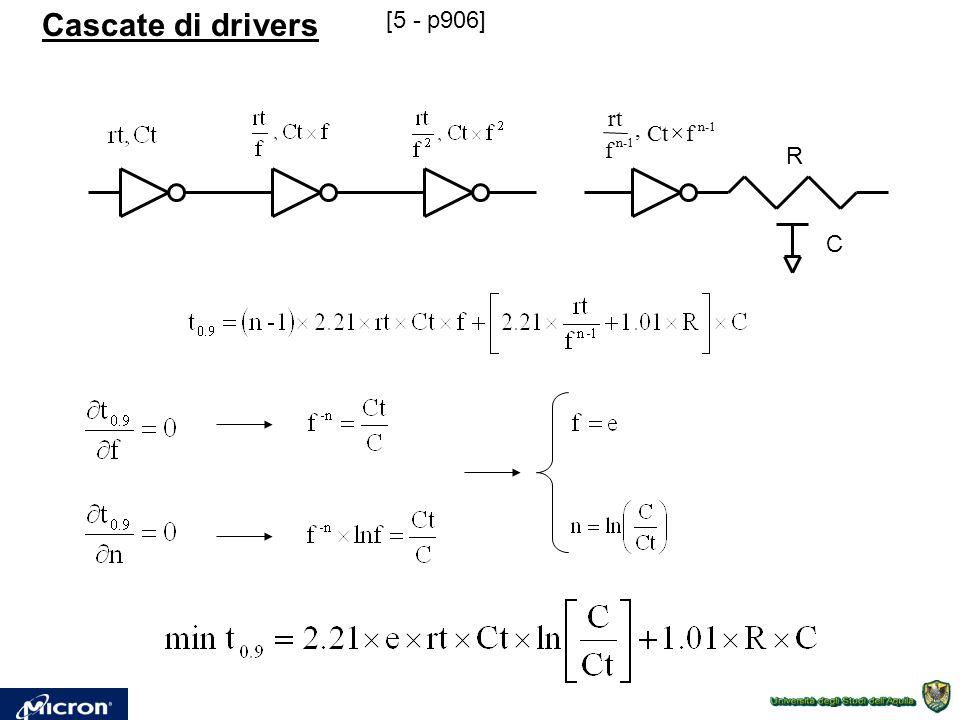 Cascate di drivers R C [5 - p906] n-1 fCt, f rt 