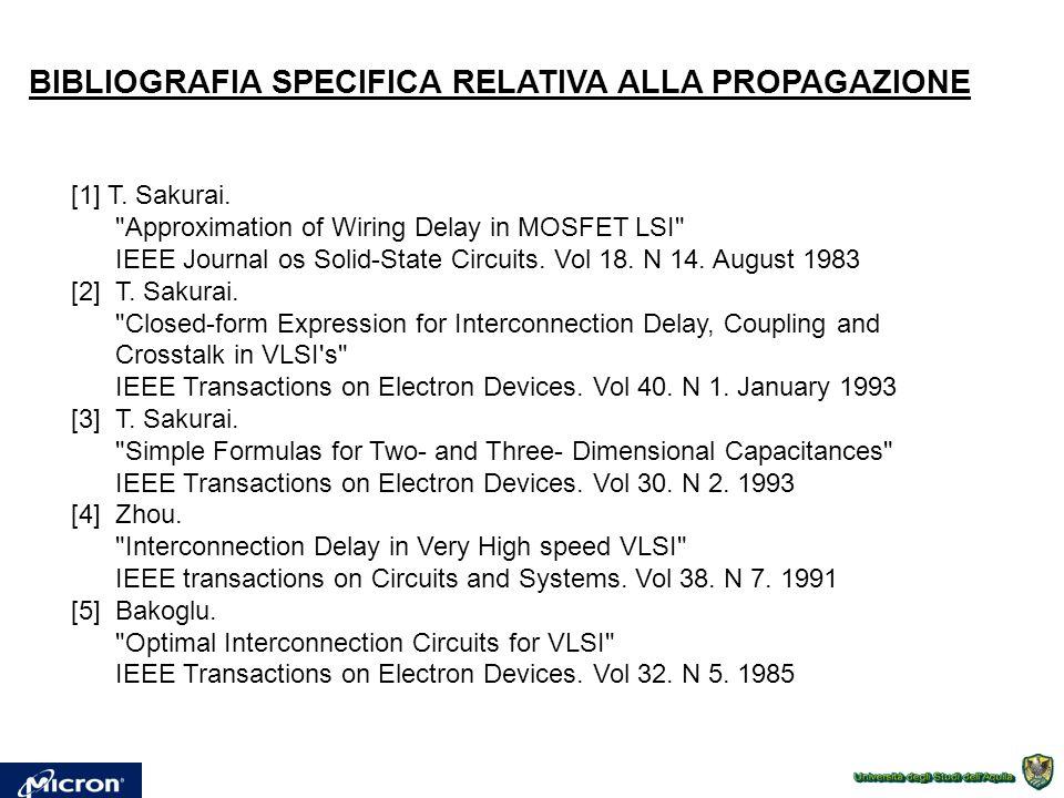 BIBLIOGRAFIA SPECIFICA RELATIVA ALLA PROPAGAZIONE [1] T. Sakurai.