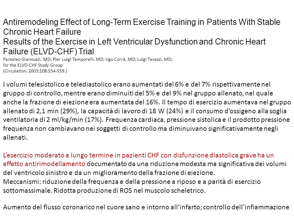 Antiremodeling Effect of Long-Term Exercise Training in Patients With Stable Chronic Heart Failure Results of the Exercise in Left Ventricular Dysfunc