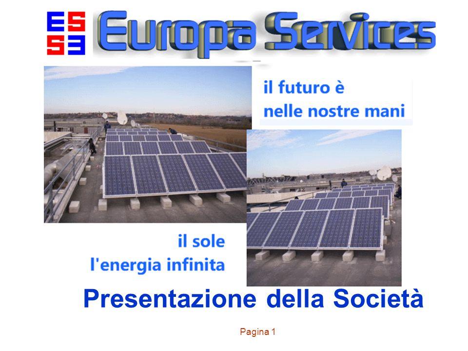 Pagina 1 Presentazione della Società