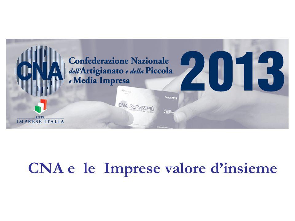 La CNA, Confederazione Nazionale dell Artigianato e della Piccola e Media Impresa, da oltre sessant'anni rappresenta e tutela gli interessi delle imprese artigiane, delle PMI e di tutte le forme del lavoro autonomo.