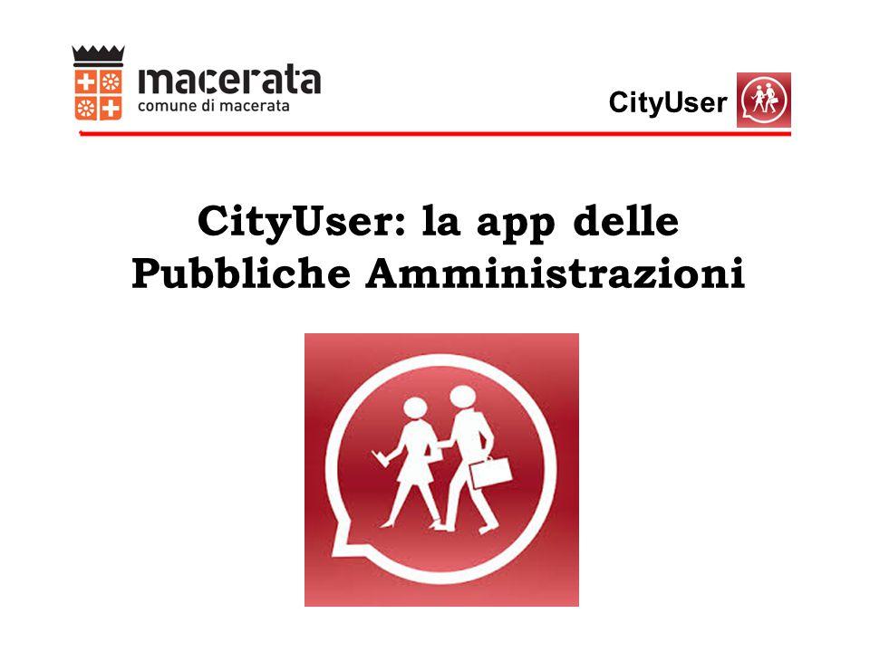 CityUser CityUser: la app delle Pubbliche Amministrazioni