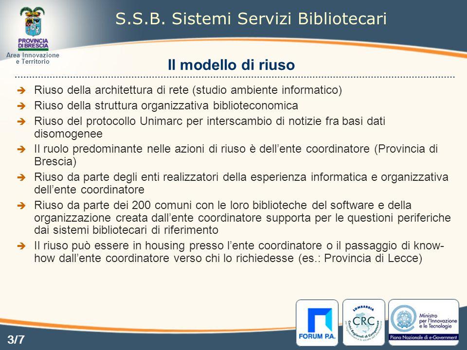 Il modello di riuso Area Innovazione e Territorio S.S.B.