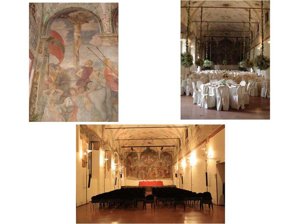 Chiostro delle Memorie Adiacente al Giardino dell'Arte e del Silenzio si trova l'accogliente Chiostro delle Memorie, con la sua parete ricoperta di rigogliosi rampicanti e graziose piante ornamentali.