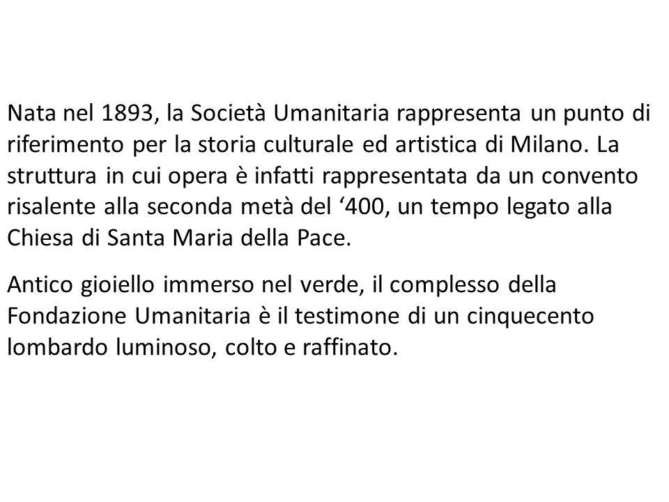 Nata nel 1893, la Società Umanitaria rappresenta un punto di riferimento per la storia culturale ed artistica di Milano. La struttura in cui opera è i