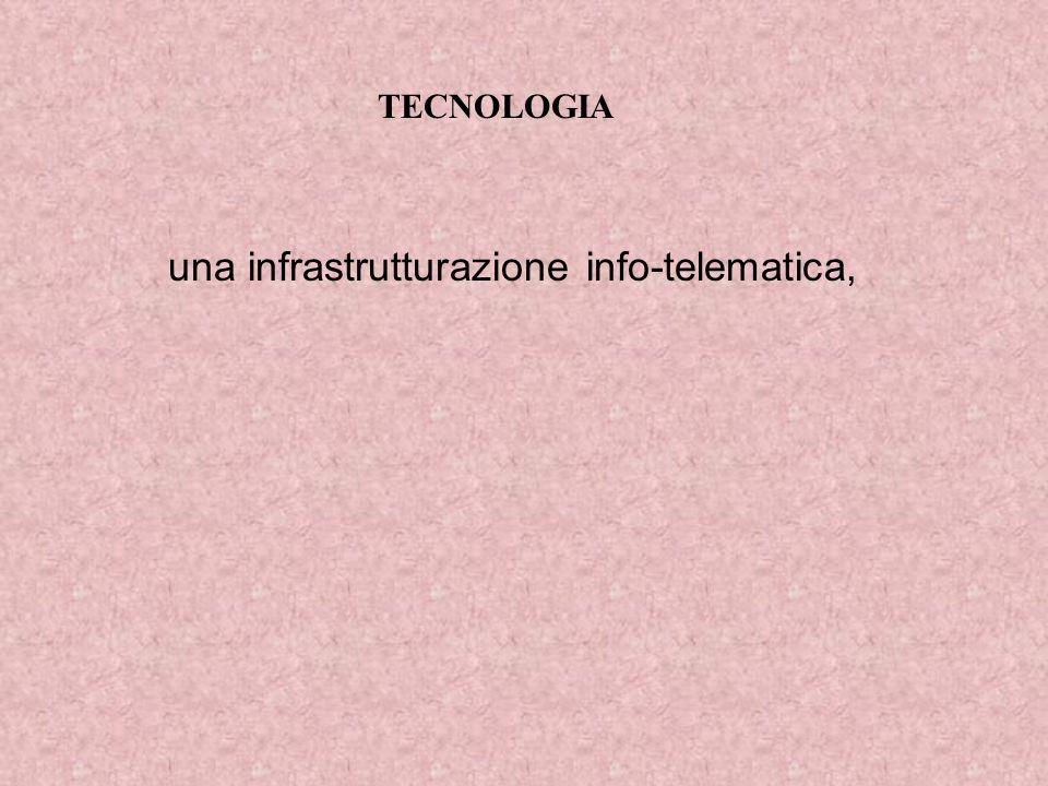 TECNOLOGIA una infrastrutturazione info-telematica,