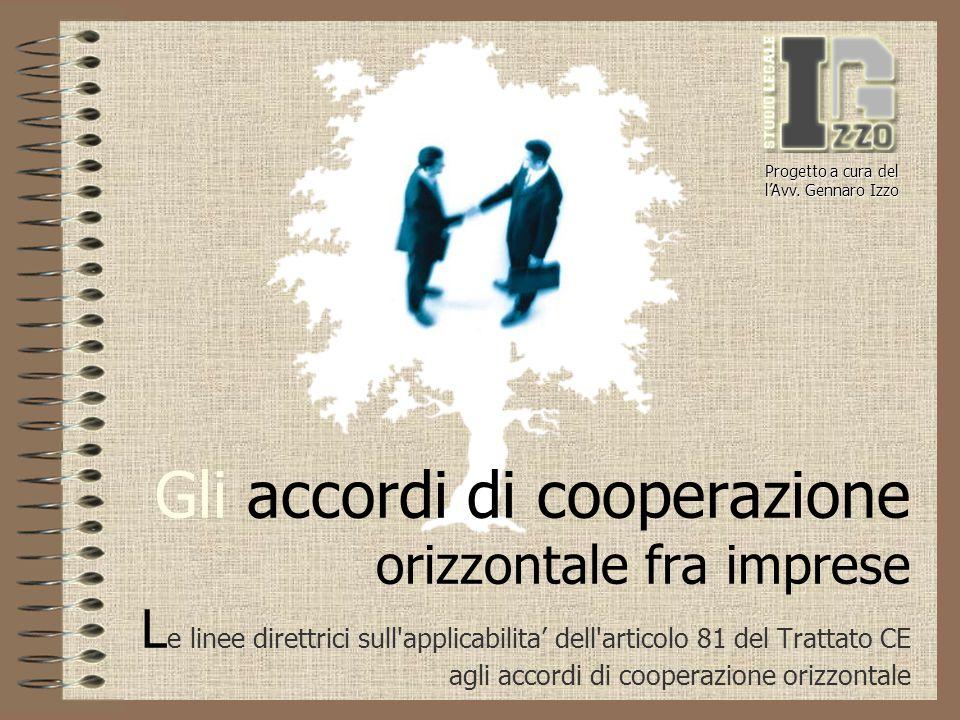 Gli accordi di cooperazione orizzontale fra imprese L e linee direttrici sull'applicabilita' dell'articolo 81 del Trattato CE agli accordi di cooperaz