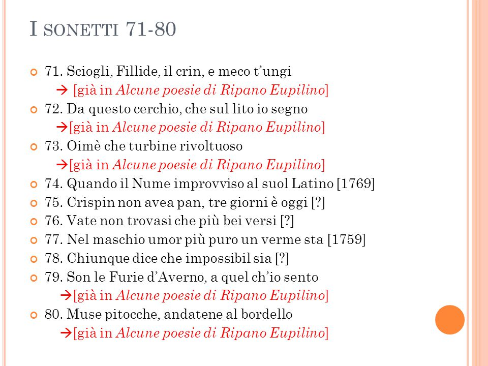 E LEMENTI DI TRADIZIONE POPOLARE Sonetto 71 3.