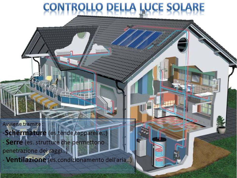 LE SERRE BIOCLIMATICHE La serra bioclimatica contribuisce al risparmio energetico di un edificio con conseguente riduzione dei consumi e dei costi.
