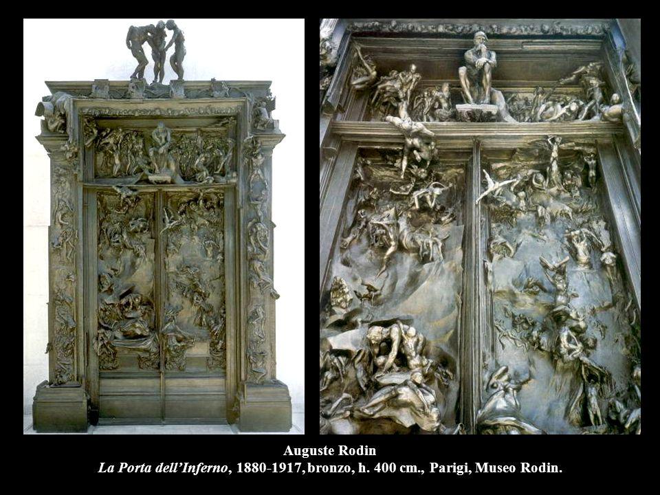 Auguste Rodin La Porta dell'Inferno, 1880-1917, bronzo, h. 400 cm., Parigi, Museo Rodin.