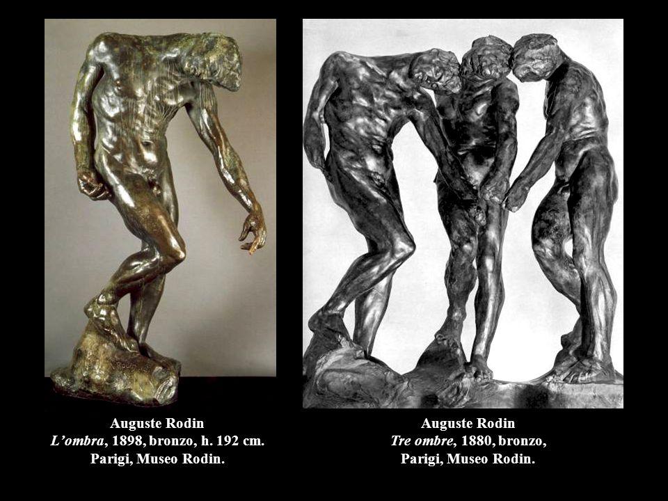 Auguste Rodin L'ombra, 1898, bronzo, h.192 cm. Parigi, Museo Rodin.