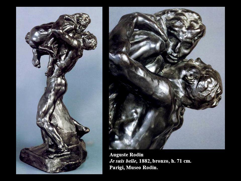 Auguste Rodin Je suis belle, 1882, bronzo, h. 71 cm. Parigi, Museo Rodin.