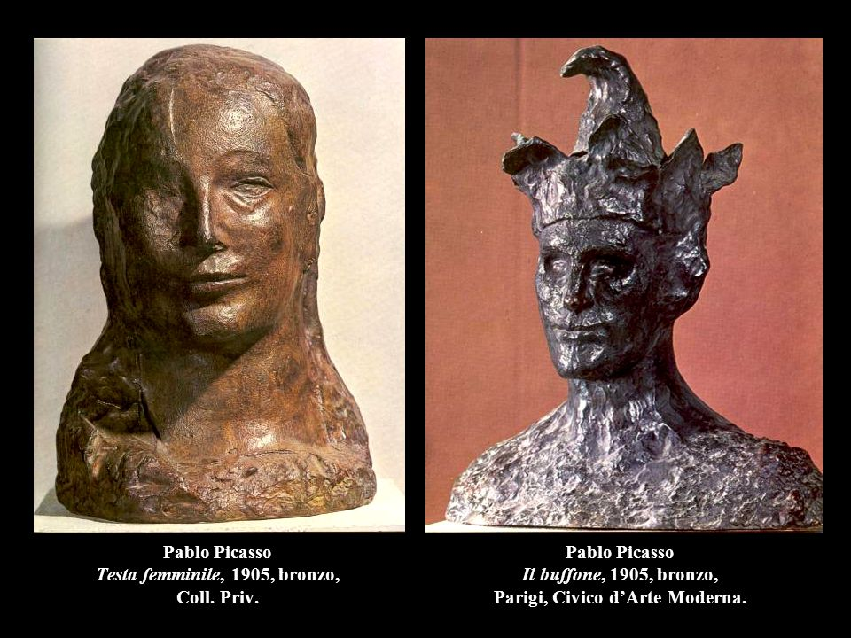 Pablo Picasso Testa femminile, 1905, bronzo, Coll.