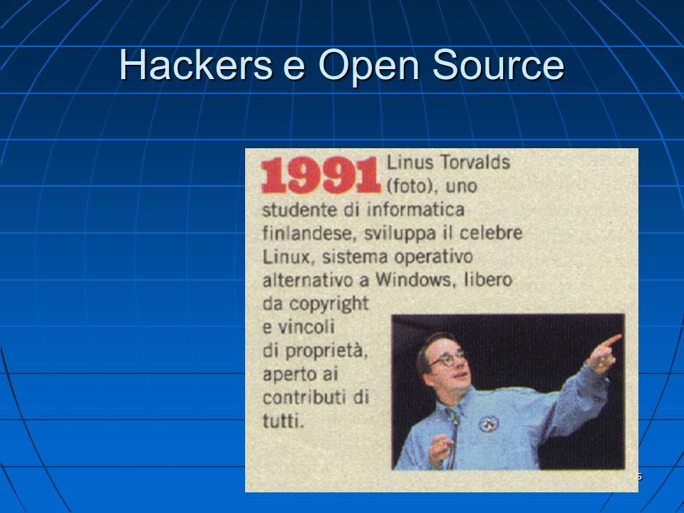 5 Hackers e Open Source