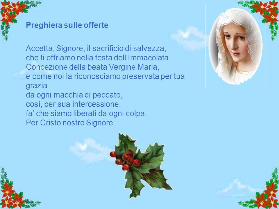 """Allora Maria disse all'angelo: """"Come è possibile? Non conosco uomo"""". Le rispose l'angelo: """"Lo Spirito Santo scenderà su di te, su te stenderà la sua o"""