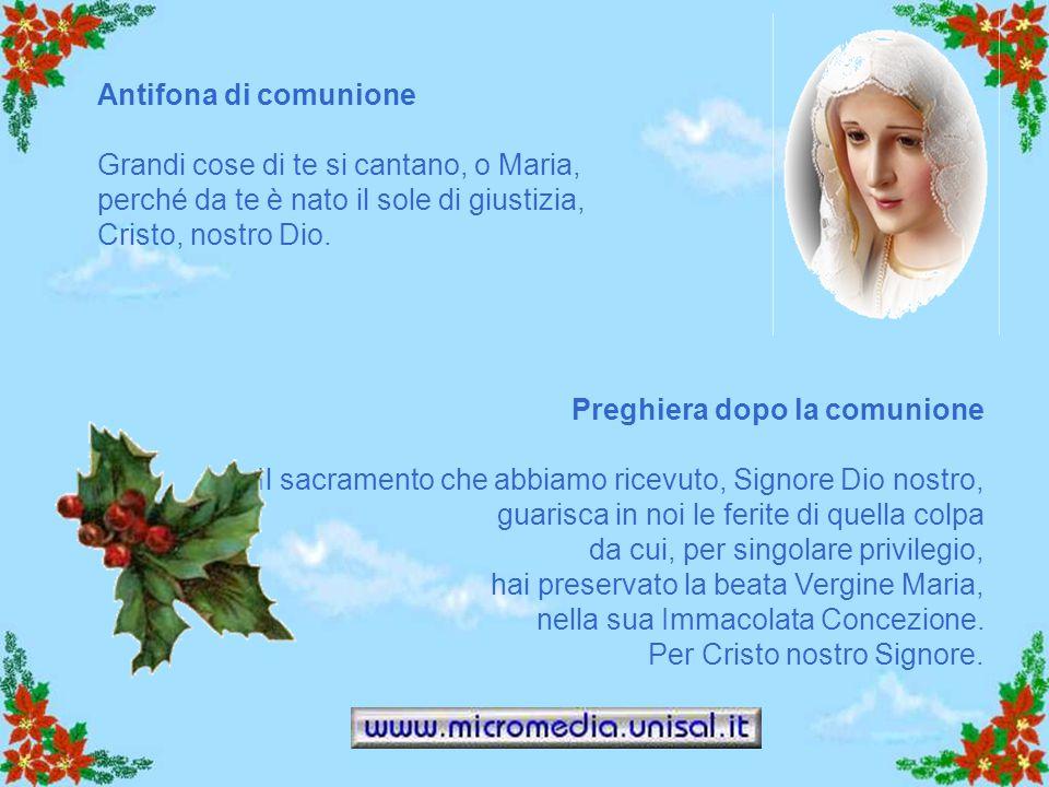 PREFAZIO Maria felice inizio della Chiesa È veramente cosa buona e giusta, nostro dovere e fonte di salvezza, rendere grazie sempre e in ogni luogo a
