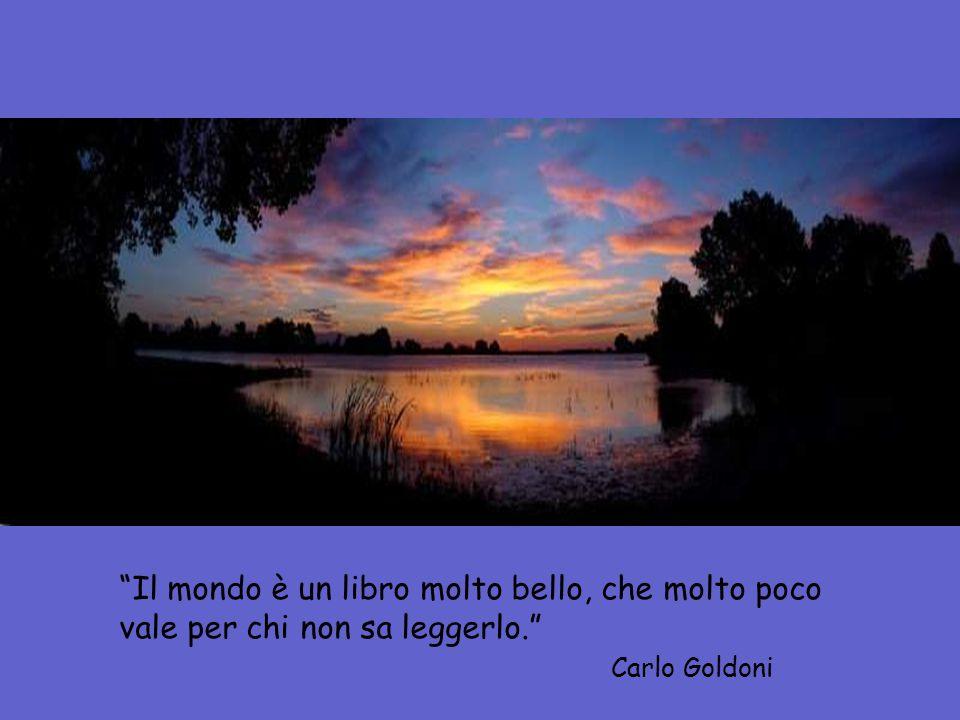 Carlo Goldoni Il mondo è un libro molto bello, che molto poco vale per chi non sa leggerlo.