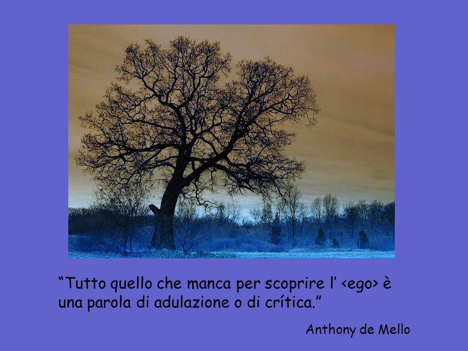 Tutto quello che manca per scoprire l' è una parola di adulazione o di crítica. Anthony de Mello