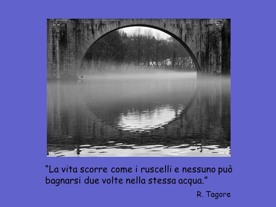 La vita scorre come i ruscelli e nessuno può bagnarsi due volte nella stessa acqua. R. Tagore
