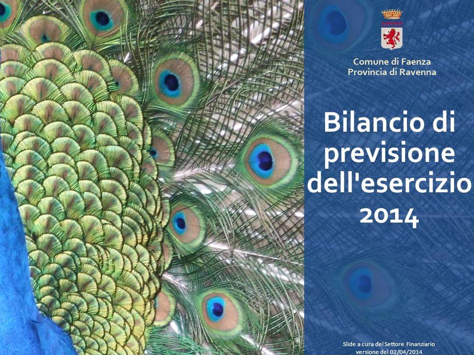 Slide a cura del Settore Finanziario versione del 02/04/2014