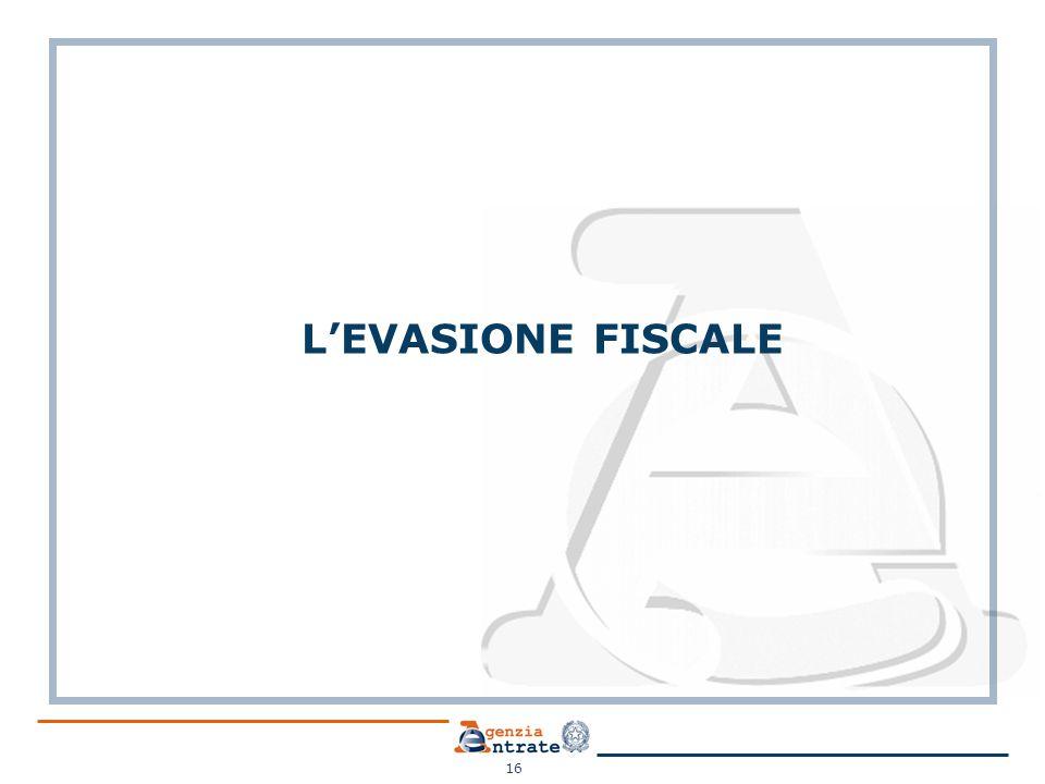 L'EVASIONE FISCALE 16