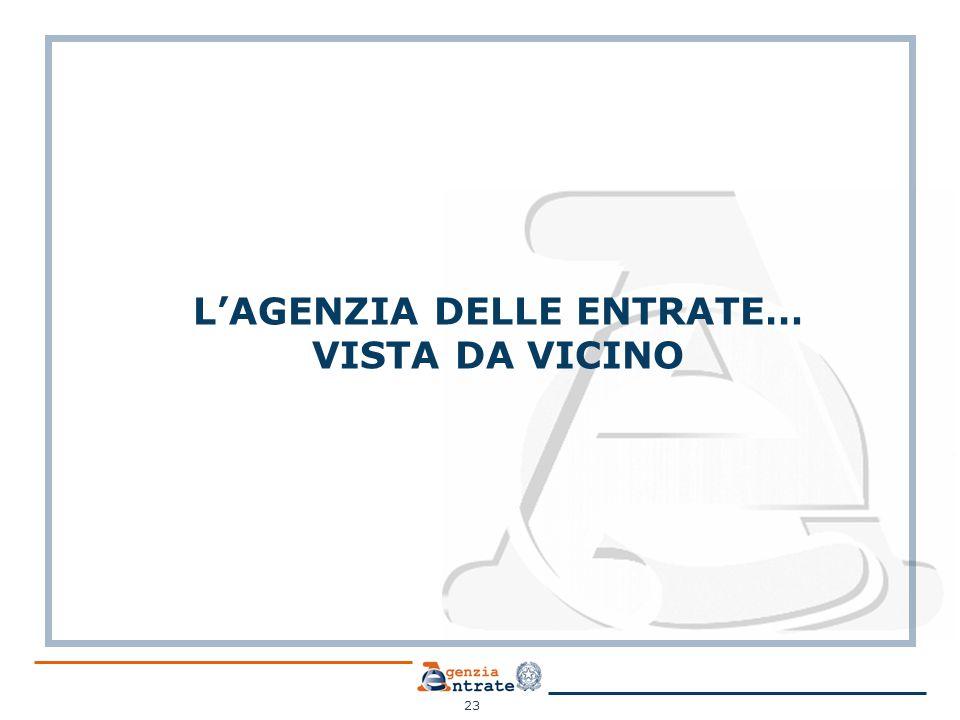 L'AGENZIA DELLE ENTRATE… VISTA DA VICINO 23