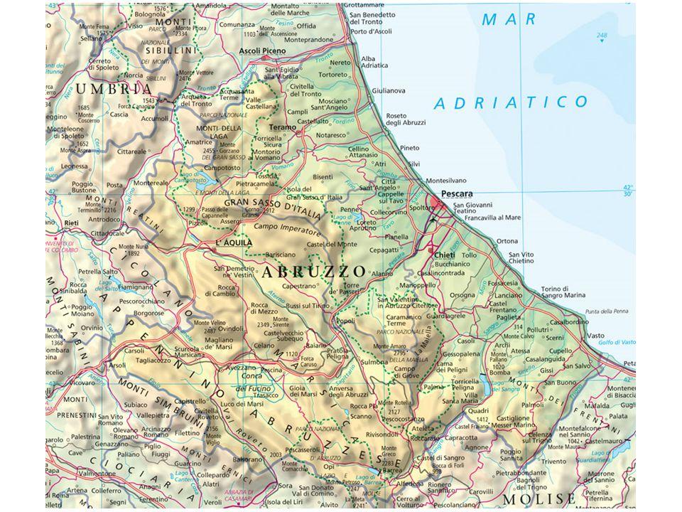 Abruzzo – Popolazione esposta al rischio di frane Fonte: ISPRA