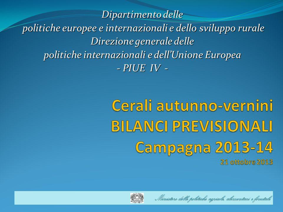 Ministero delle politiche agricole, alimentari e forestali Dipartimento delle politiche europee e internazionali e dello sviluppo rurale politiche eur