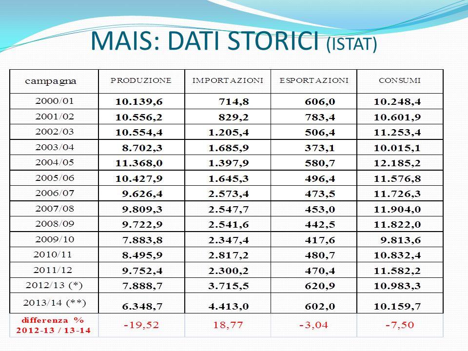 MAIS: DATI STORICI (ISTAT)
