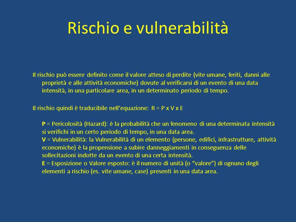 RISCHIO SISMICO La classificazione sismica è la suddivisione del territorio in zone a diversa pericolosità sismica.