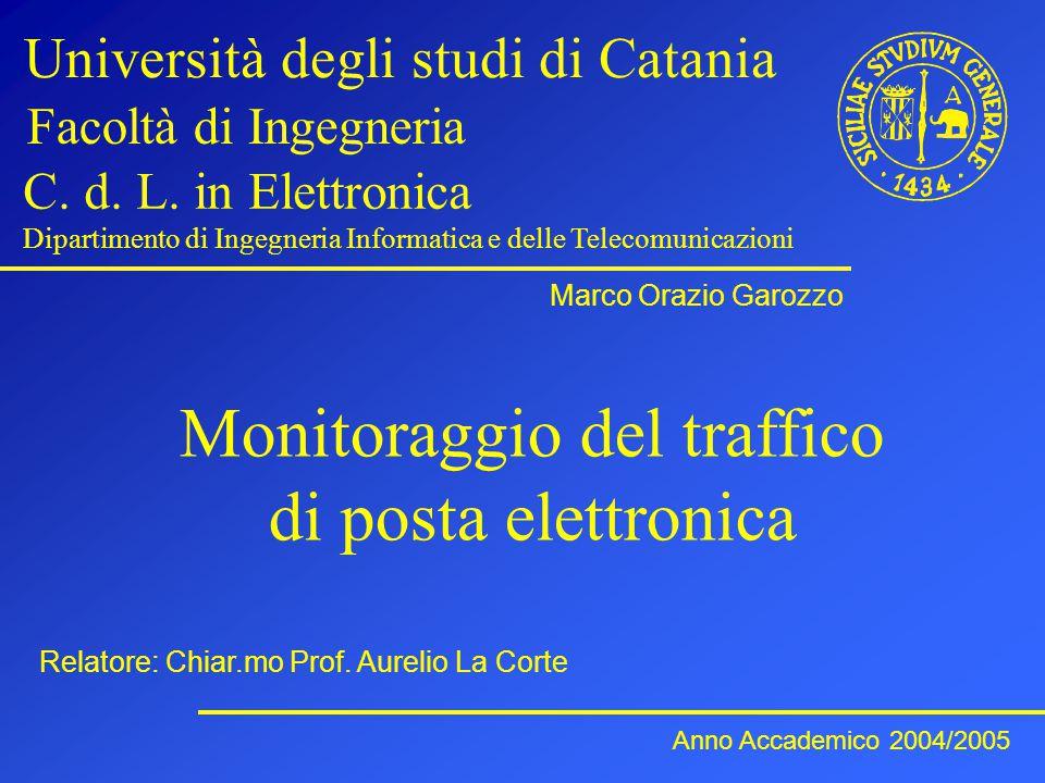 Monitoraggio del traffico di posta elettronica Università degli studi di Catania Facoltà di Ingegneria C.