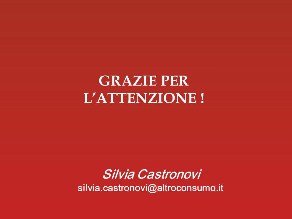 16 Data GRAZIE PER L'ATTENZIONE ! Silvia Castronovi silvia.castronovi@altroconsumo.it