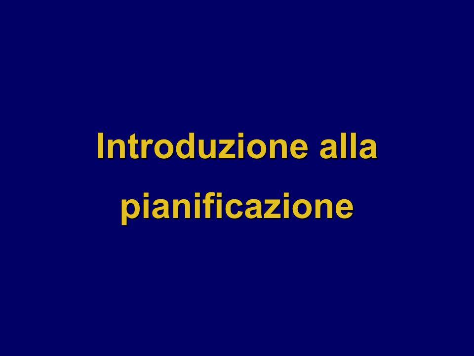 Introduzione alla pianificazione