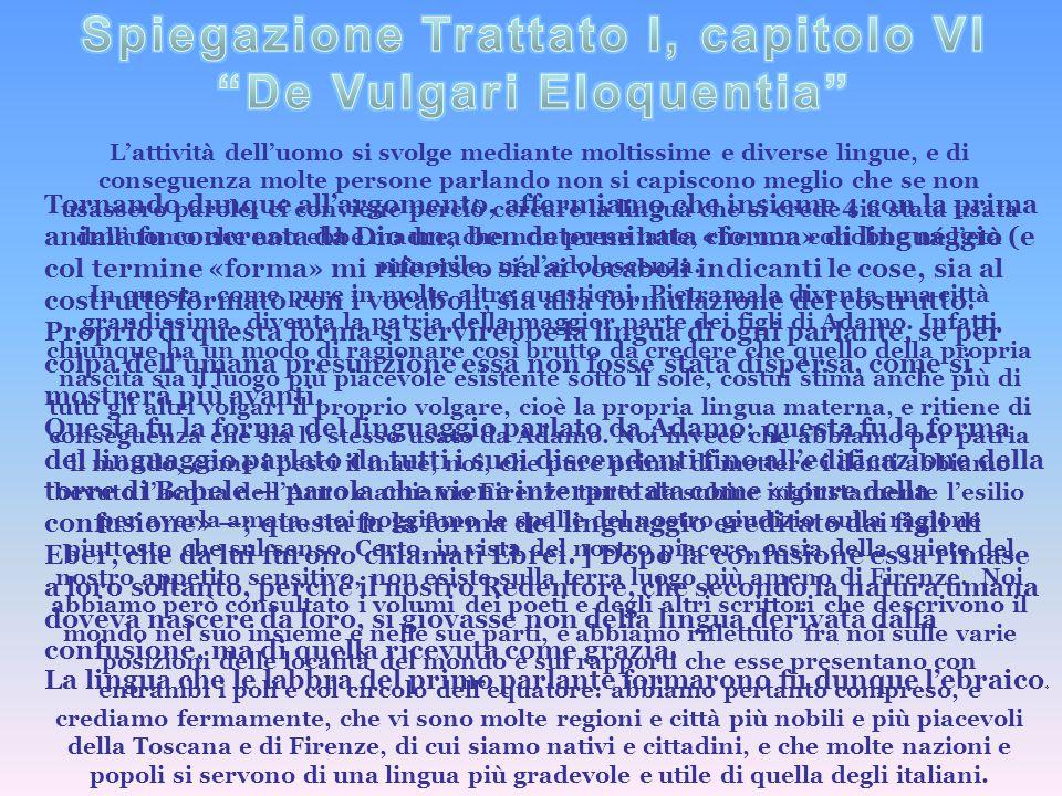 L'attività dell'uomo si svolge mediante moltissime e diverse lingue, e di conseguenza molte persone parlando non si capiscono meglio che se non usasse