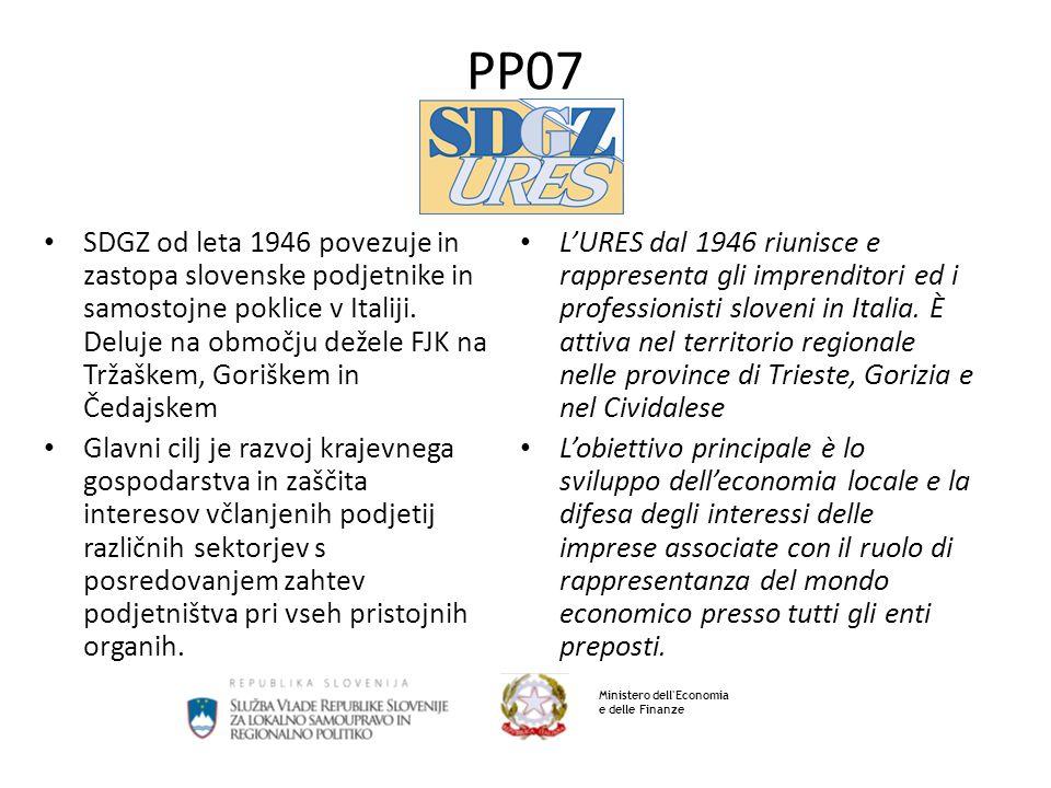 PP07 SDGZ od leta 1946 povezuje in zastopa slovenske podjetnike in samostojne poklice v Italiji. Deluje na območju dežele FJK na Tržaškem, Goriškem in