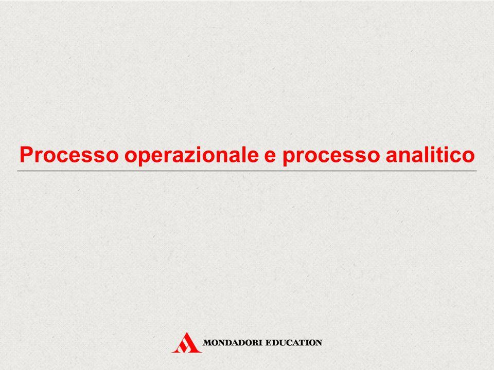 Processo operazionale e processo analitico